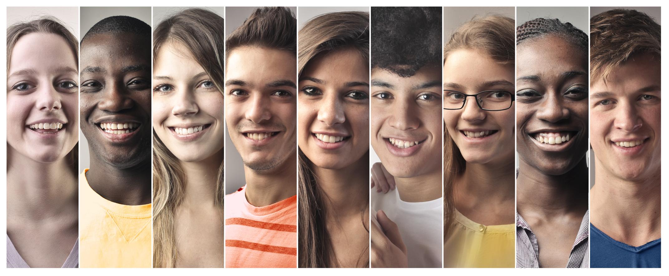 Rheuma: Jugendliche unterschiedlicher Herkunft lachen